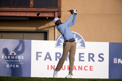 Kamaiu Johnson at the 2020 Farmers Insurance Open in January.