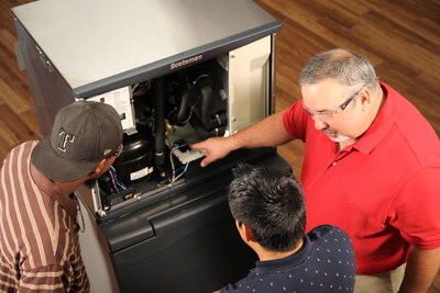 Ancora Education is offering a free online HVAC class to help technicians in fighting the spread of COVID-19 (photo 2019).