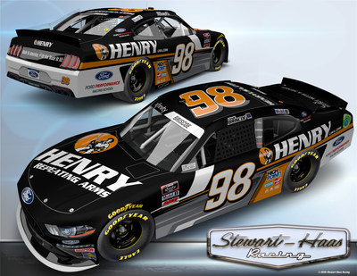 Henry Repeating Arms continues its partnership with Stewart-Haas Racing and takes over Chase Briscoe's No. 98 Ford Mustang with a new look for the Henry 180.