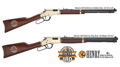 The No. 1 race starter and the race winner will receive custom Henry lever-action rifles with the Henry 180 logo engraved and hand-painted on the buttstocks.