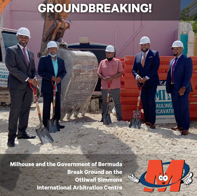 Milhouse Engineering & Construction is a dynamic, interdisciplinary team of over 250 talented professionals licensed in multiple states — solving problems to improve communities everywhere! The Government of Bermuda and Milhouse broke ground yesterday on what will be a new international arbitration center developed as part of a public-private partnership. During this proud moment, Wilbur C. Milhouse III, P.E., Chairman/CEO, noted Milhouse is one of the largest African-American firms in the US and that it looked forward to investing in the Bermuda community.
