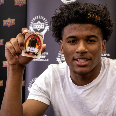 Top basketball prospect Jalen Green has signed an exclusive deal with Upper Deck for authenticated autographed cards and memorabilia. Products are available at www.UpperDeckStore.com/Jalen-Green.