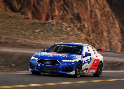 The 2021 Acura TLX makes its racing debut at the Pikes Peak International Hill Climb before arriving at dealers on Sept. 28