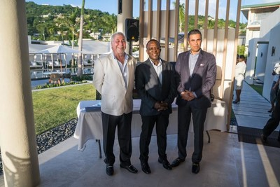Kamal Shehada, Managing Director and Member of the Board, Range Developments (left); Dr. the Right Honorable Keith Mitchell, Prime Minister of Grenada, (centre); Mohammed Asaria, Managing Director and Member of the Board, Range Developments (right)
