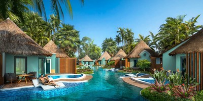 Debuting this December, the world's first-ever Swim-up Rondoval Suites at Sandals South Coast offering direct access to an expansive 17,040 sq. ft. pool