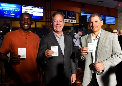 Governor Ned Lamont placed the 1st legal sports bet in CT at the Mohegan Sun FanDuel Sportsbook. $50 on Connecticut Sun -7.5 vs Chicago Sky at -108 (WNBA). NFL legends, Wayne Chrebet and Darius Butler, were also on hand to celebrate the launch of legal sports betting at Mohegan Sun, Chrebet placed a $20 wager on the Jets moneyline for their game this weekend against the Tennessee Titans, and Butler placed a $20 on the New England Patriots moneyline, hoping they notch a win against the Tampa Ba