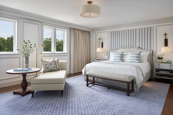 An image of the fully transformed rooms at Keswick Hall. The resort now boasts 80 rooms and suites after its multi million dollar renovation.