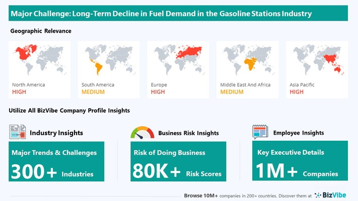 Snapshot of key challenge impacting BizVibe's gasoline stations industry group.