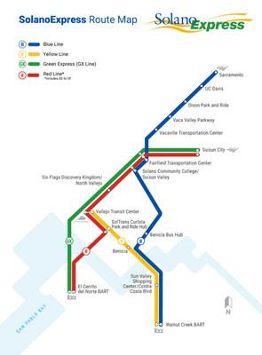 SolanoExpress Route Map