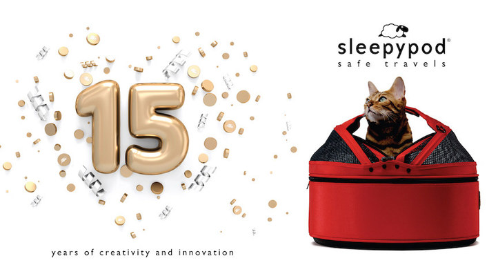 Sleepypod®, a company known for making safety tested pet products, celebrates 15 years creativity and design innovation.