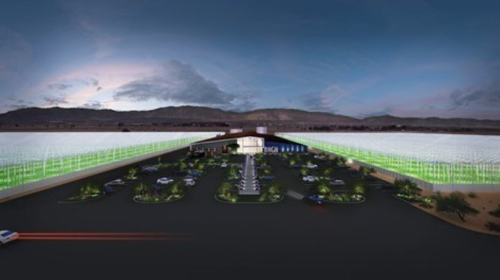 Conceptual rendering of Bluehouse Greenhouse, Inc.'s flagship site in Lancaster, CA